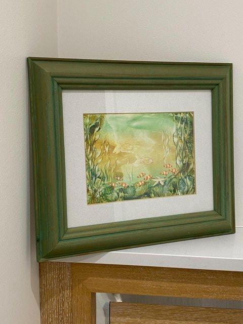 Image 13 of PAINTING HANDPAINTED WAX USING IRON ENCAUSTIC ARTWORK MARINE