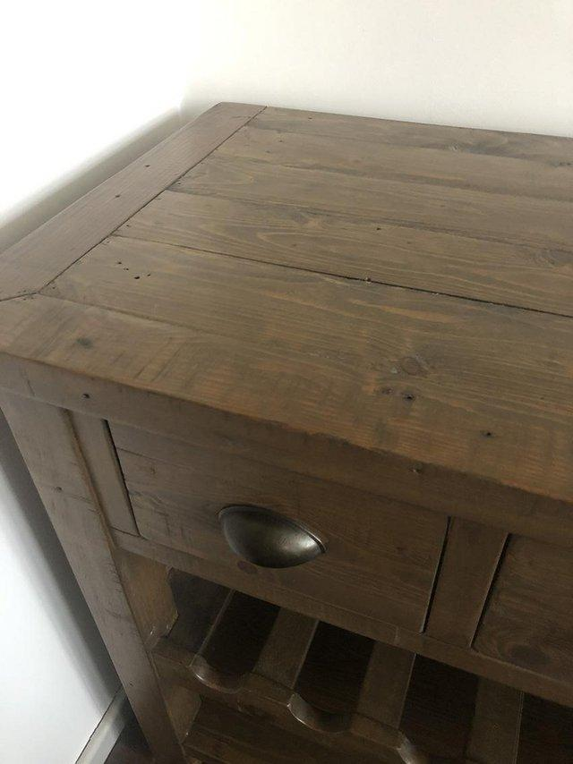 Image 2 of Solid Wood Sideboard with drawers and wine rack