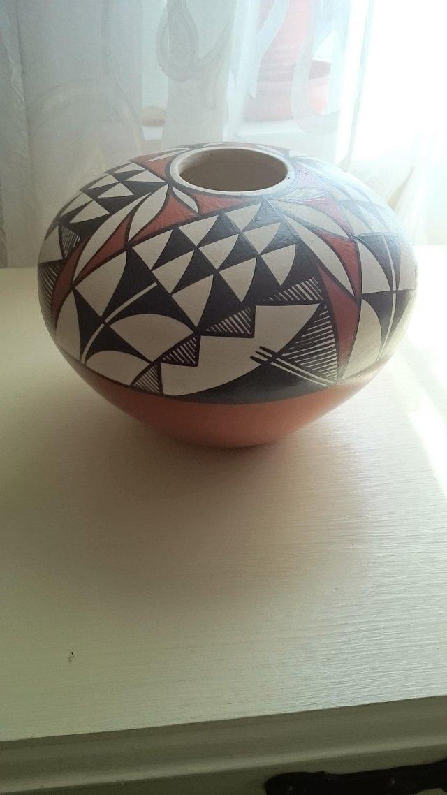 Image 3 of Original vintage signed first nation pottery