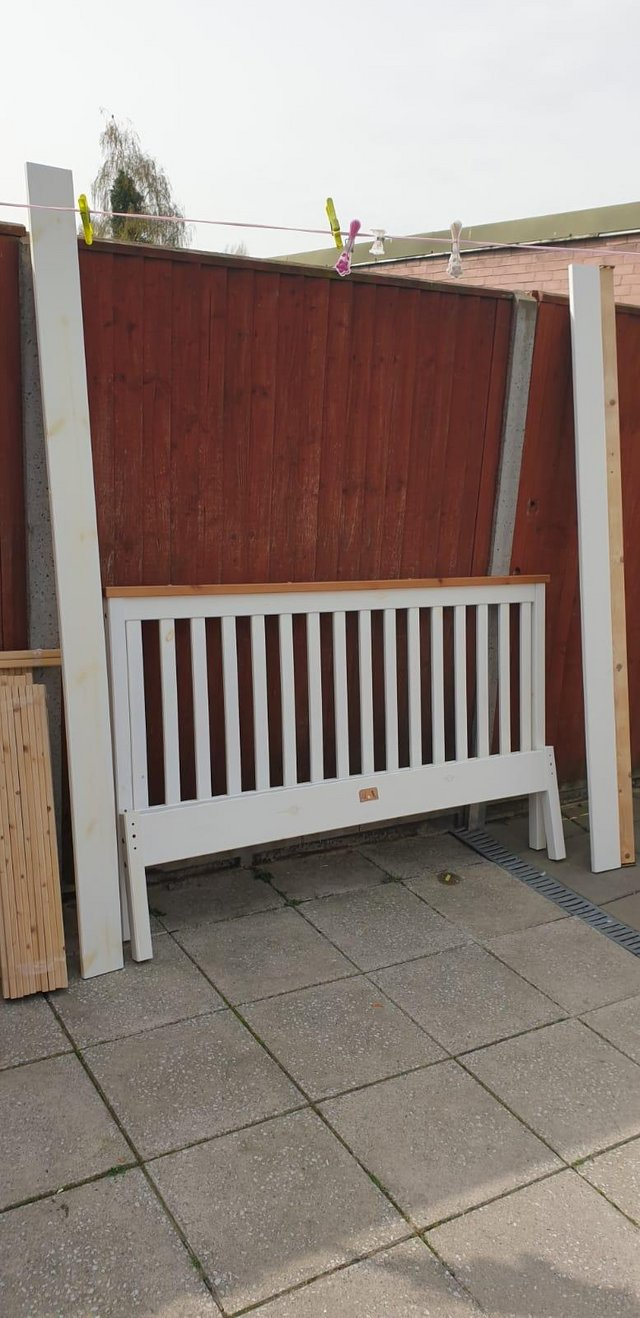 Preview of the first image of Classic wooden double bed frame.