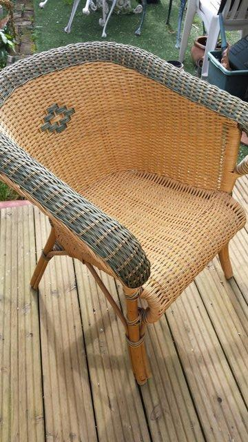 Preview of the first image of Vintage Style RATTAN CANE, conservatory, lounge or patio cha.