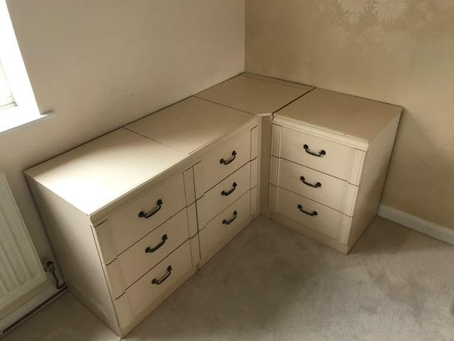 Preview of the first image of Modular Bedroom Chest of Drawers and Laundry basket.