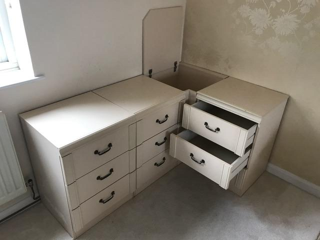 Image 3 of Modular Bedroom Chest of Drawers and Laundry basket