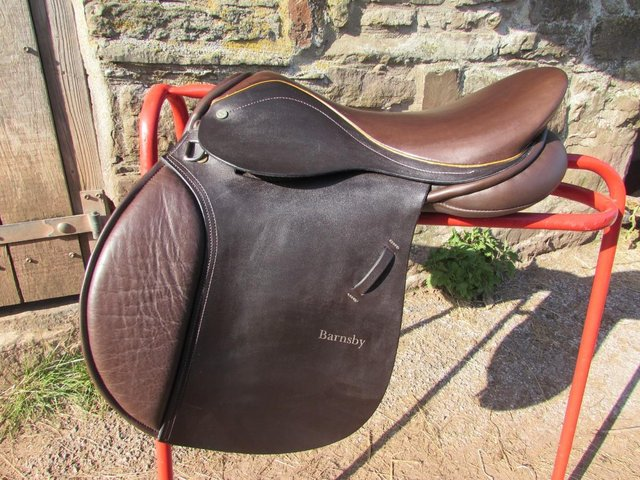 Preview of the first image of Stunning Barnsby 16 W Pony Club approved GP Saddle exc cond.