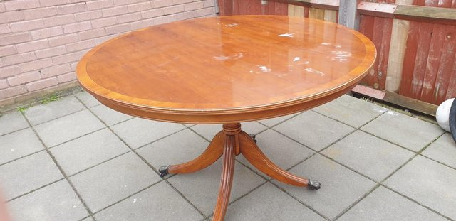 Preview of the first image of Regency  style  dining table 1950's.
