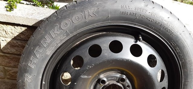 Preview of the first image of Space saver wheel and tyre.