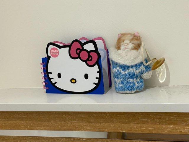 Image 6 of HELLO KITTY PAPERCHASE NOTEBK BN+ KITTEN INMITTEN SUCTIONCUP