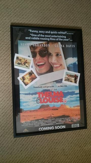 Preview of the first image of Original vintage lobby movie poster framed.