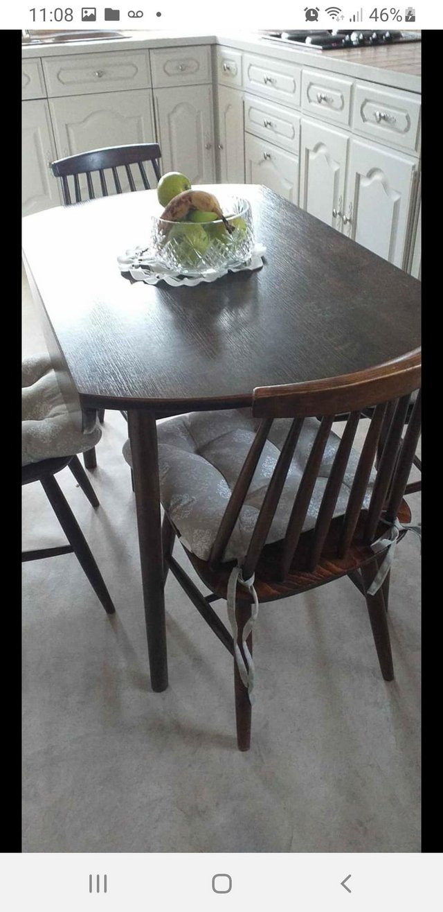 Image 2 of Vintage Dinettedining table and 4 chairs