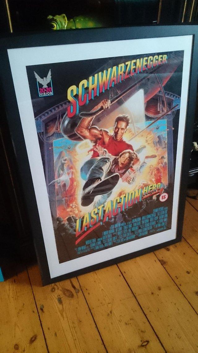 Image 2 of Original framed Arnold Schwarzenegger film poster