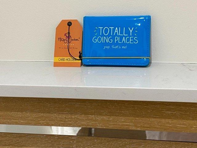 Preview of the first image of HAPPY JACKSON LONDON TRAVEL CARD HOLDER WITH TAG. BRAND-NEW..