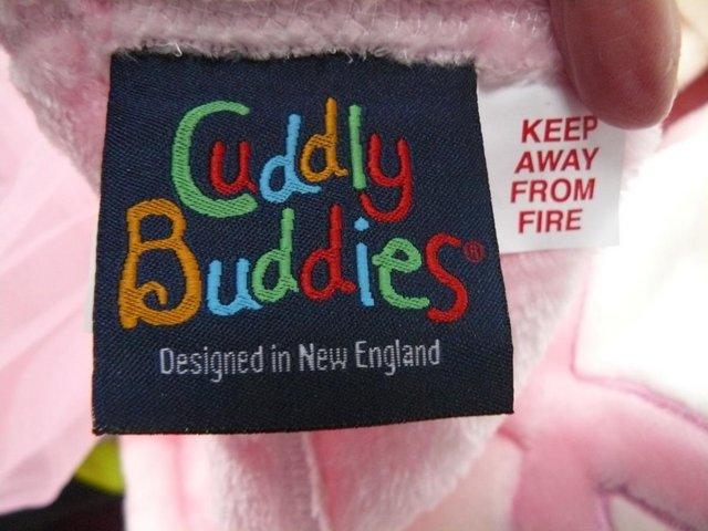 Image 3 of Cuddly Buddies pink & cream Soft Cosy Ballerina Footie Throw