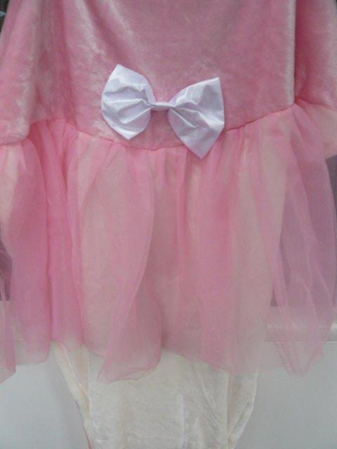 Image 7 of Cuddly Buddies pink & cream Soft Cosy Ballerina Footie Throw