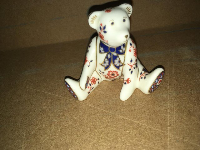 Preview of the first image of Royal Crown Derby William Bear Paperweight.