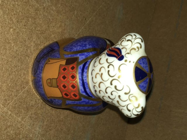 Image 2 of Royal Crown Derby Schoolboy Bear Paperweight