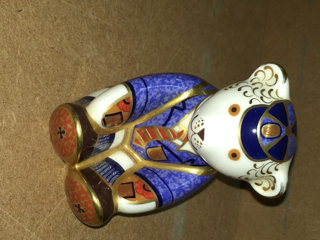 Image 3 of Royal Crown Derby Schoolboy Bear Paperweight