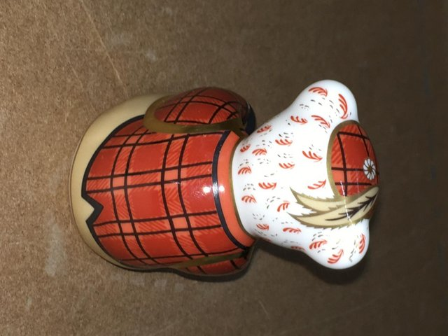 Preview of the first image of Royal Crown Derby Scottish Fraiser Bear Paperweight.