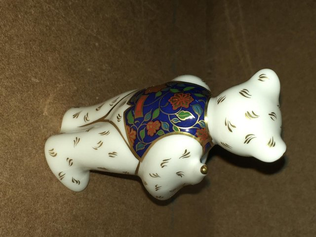 Preview of the first image of Royal Crown Derby Claude Artist Bear Paperweight.
