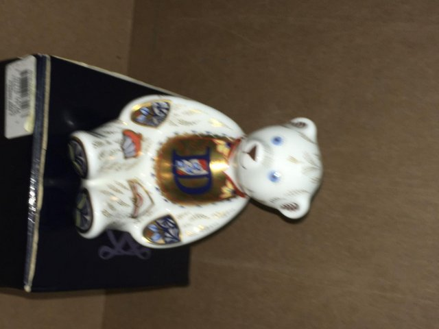 Image 3 of Boxed Royal Crown Derby Alphabet Bear D Paperweight