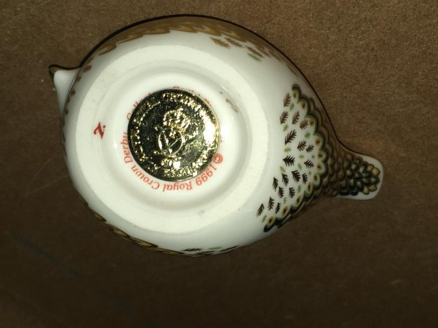 Image 2 of Royal Crown Derby Firecrest Bird Paperweight