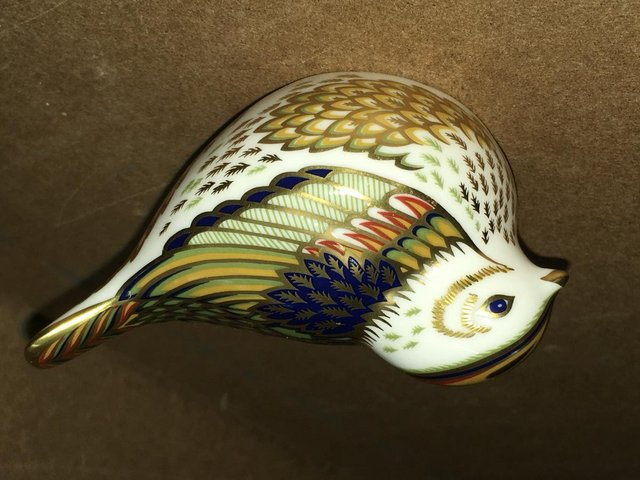 Image 3 of Royal Crown Derby Firecrest Bird Paperweight