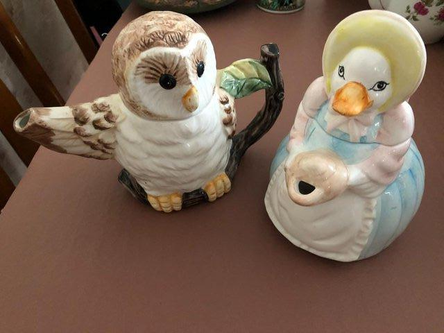 Preview of the first image of 2 Decorative Bird Teapots.