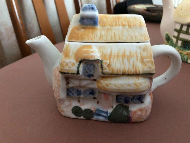Image 2 of 3 Decorative Cottage Teapots