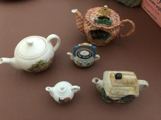 Preview of the first image of 5 Small Decorative Teapots.