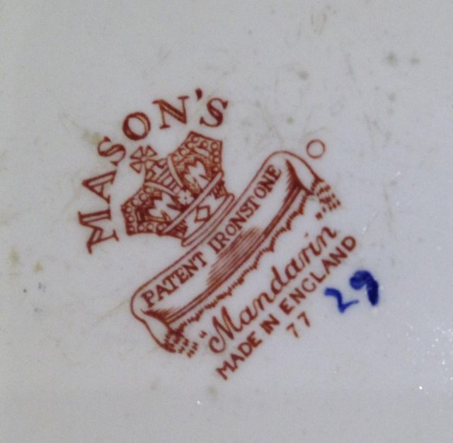 Preview of the first image of Four Ironstone Mandarin Mason's Plates - Made in England.