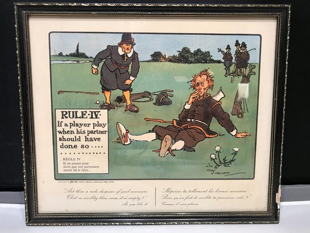 Preview of the first image of Perrier Series of Golf Rules Prints.