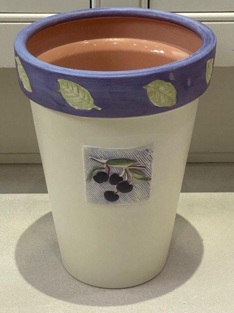 Image 10 of HOUSE PLANT PLANTERS POTSx3.MARKS&SPENCER HANDPAINTED RRP£38