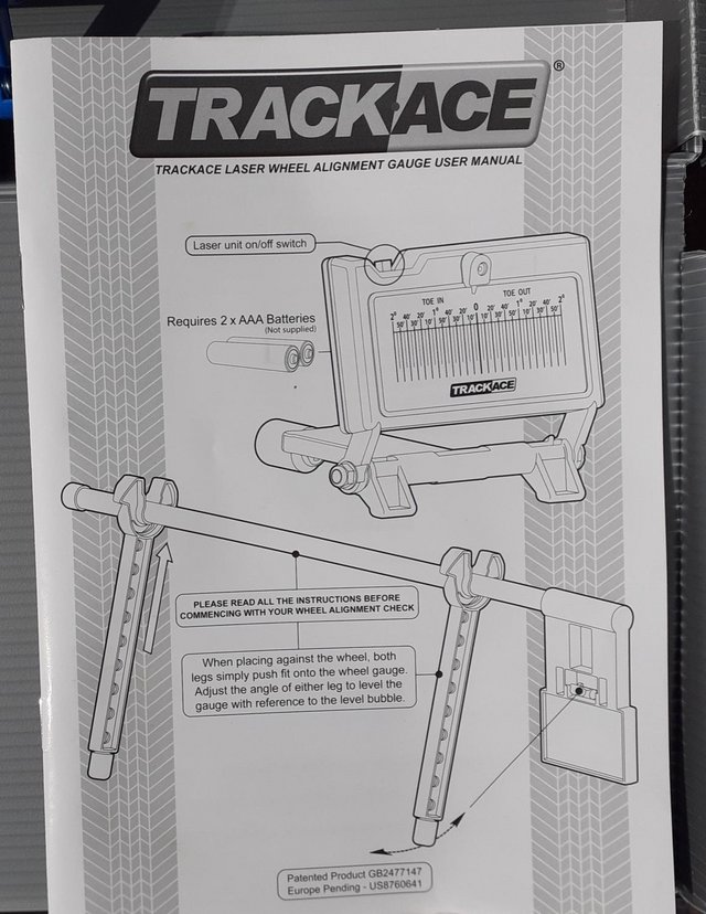 Preview of the first image of TrackAce laser alignment tool (new in box).