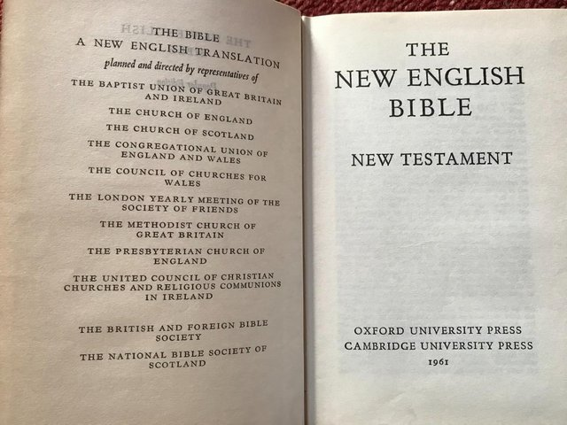 Image 2 of The New English Bible New Testament 1961