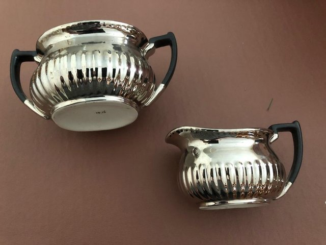 Preview of the first image of Devon Silverline Jug and Sugar Bowl.