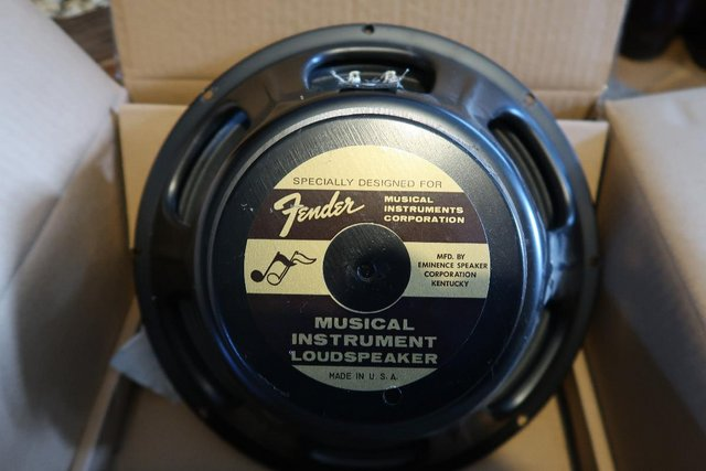 """Preview of the first image of Fender12"""" Speaker By Eminence 8ohm."""