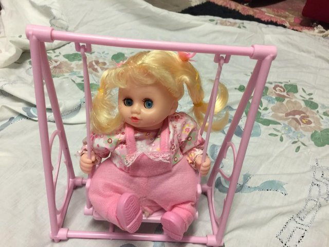 Image 2 of Battery Operated Automatic Swing And Sing Baby Doll Kids Xm
