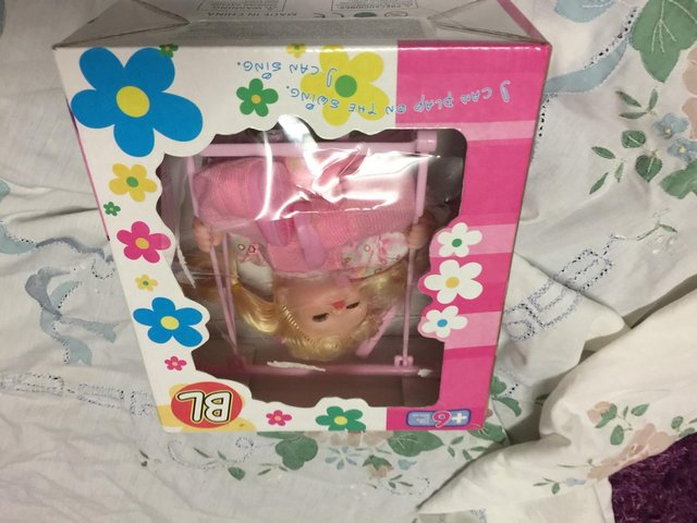 Image 3 of Battery Operated Automatic Swing And Sing Baby Doll Kids Xm