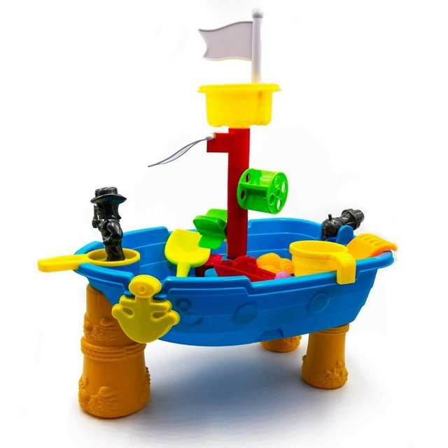Image 3 of Top Race 24 Piece Outdoor Pirate Sand and Water Table – Ship
