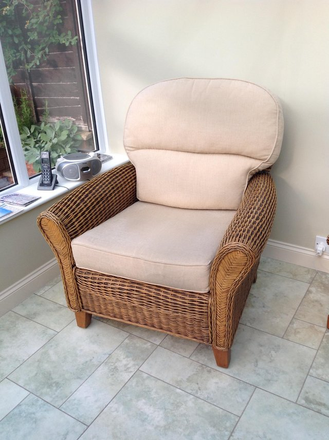 Preview of the first image of Wicker armchair.