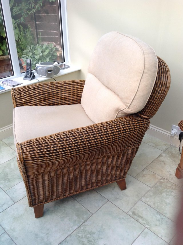 Image 2 of Wicker armchair
