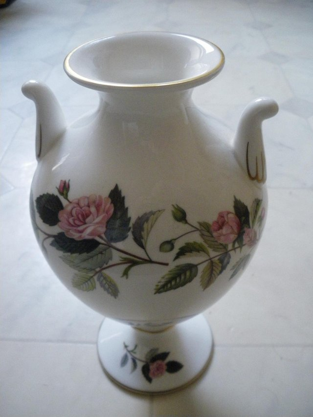 Preview of the first image of Wedgwood Hathaway Rose Bone China Display Urn.