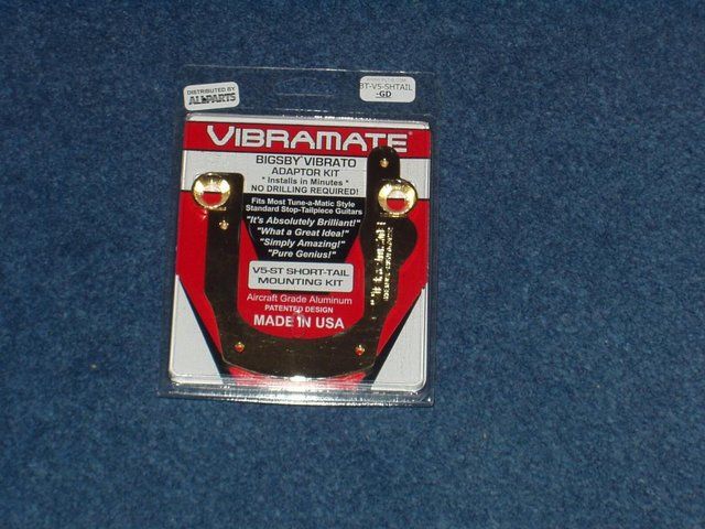 Preview of the first image of Vibramate V5 ST Gold Mounting Plate For Bigsby B5.