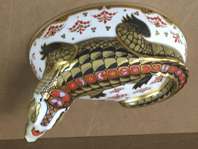 Preview of the first image of Royal Crown Derby Crocodile.