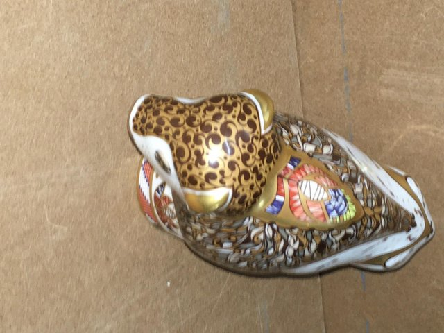 Image 2 of Extremely Rare Royal Crown Derby Bison Paperweight