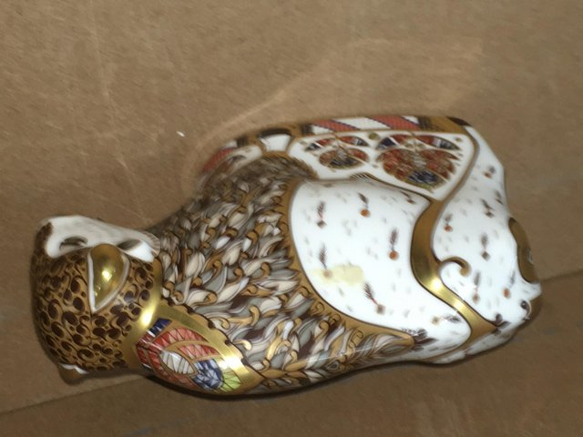 Image 3 of Extremely Rare Royal Crown Derby Bison Paperweight