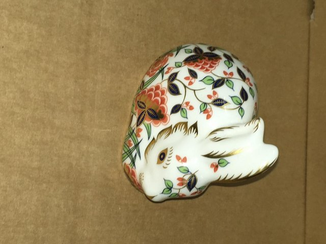 Preview of the first image of Royal Crown Derby Meadow Rabbit Paperweight.