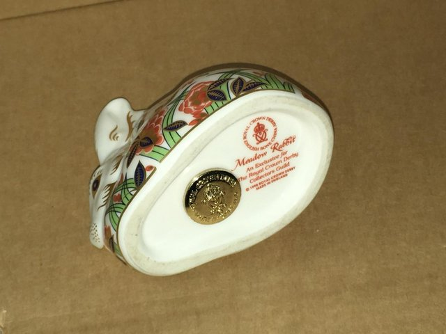 Image 2 of Royal Crown Derby Meadow Rabbit Paperweight