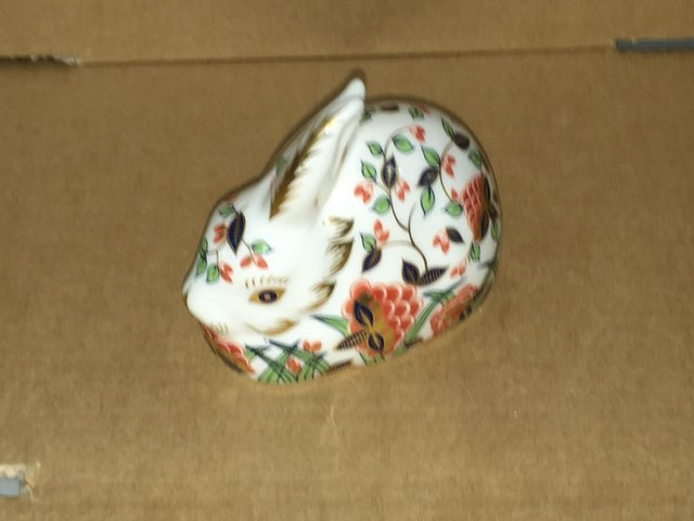 Image 3 of Royal Crown Derby Meadow Rabbit Paperweight