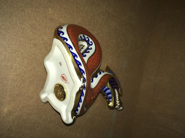 Preview of the first image of Royal Crown Derby Dragon Paperweight.