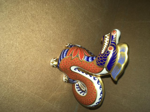 Image 3 of Royal Crown Derby Dragon Paperweight